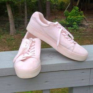 H&M suede pink sneakers